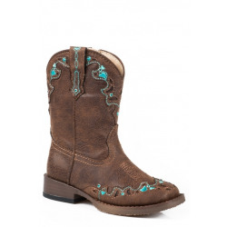 Roper Toddler Hearts Brown Western Boots