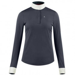 Horze Long Sleeve Show Shirt Blaire Navy
