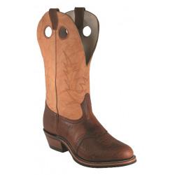 Boulet Men's Cognac Round Toe Western Boot