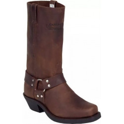 Canada West Men's Brown Biker Crazy Horse Boots