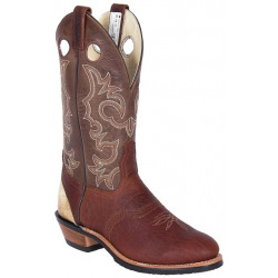 Canada West Pecan Bison Cowboy Boot