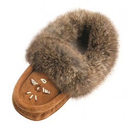 Laurentian Chief Mocka Fur Beaded Moccasins