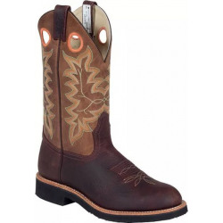 Canada West Men's Brahma Spongy Ropers Brown Buffaloco