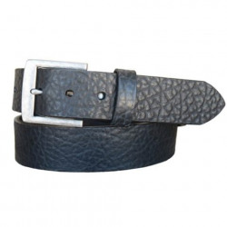 Vintage Bison Chaparral Style Handcrafted Full Grain Leather Belt Black