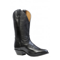 Boulet Men's Black Medium Toe Cowboy Boot