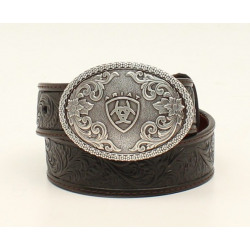 Ariat Youth Brown Leather Floral Belt