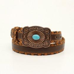 Ariat Ladies Leather Turquoise Brown Belt