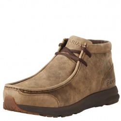 Ariat Men's Leather Spitfire Slip On Brown Bomer Shoe