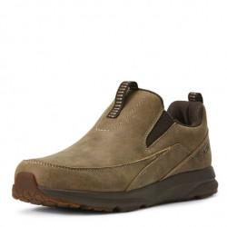 Ariat Men's Leather Spitfire Slip On Brown Bomber Shoe