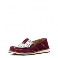 Ariat Women's Burgundy Cowgirl Print Cruiser Shoe