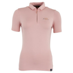 BR Ladies Ariana Competition Polo Silver Pink Shirt