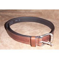 Vintage Bison Men's Gettysburg Saddle Leather Brown Belt