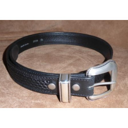 Vintage Bison Winchester Black Basket Weave Belt