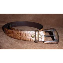 Vintage Bison Men's Genuine Leather Cracked Leather Belt