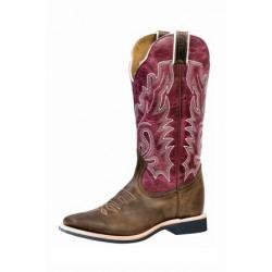 Boulet Women's Lava Magenta Square Toe Western Boot