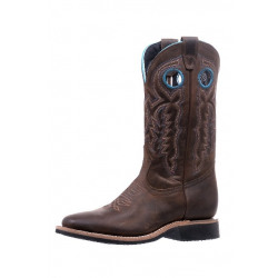 Boulet Ladies Wide Square Toe  Western Boot