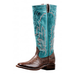 Boulet Ladies Tall Shaft Turqueza Western Boot