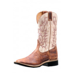 Boulet Desert Bone Ladies Wide Square Toe Cowboy Boot