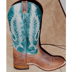 Boulet Men's Green Virginia Mesquite Full Round Toe Cowboy Boot