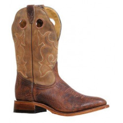 Boulet Men's Bomber Natural Full Round Toe Western Boots