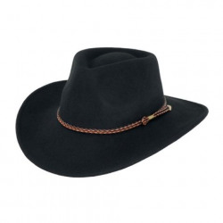 Outback Broken Hill Wool Crushable Hat Black