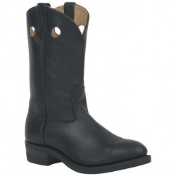 Canada West Black Loggertan Work Western Boot