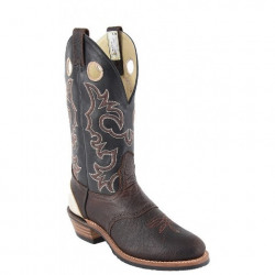 Canada West Men's Bison Pullup Brahma Buckaroos Boot