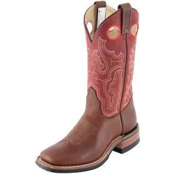 Canada West Ladies Brahma Roper Pecan Tumbled Sly Fox Red Boots
