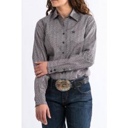 Cinch Women's Mauve Lavender Print Western Shirt