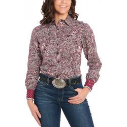 Cinch Ladies Purple Mulberry Long Sleeve Western Shirt
