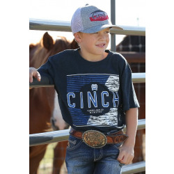 Cinch Boy's Heathered Navy Classic T-Shirt