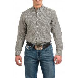 Cinch Men's Brown Black Dot Print Western Shirt