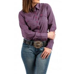 Cinch Ladies Violet Geo Print Snap Front Western Shirt