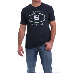 Cinch Men's Navy Logo T Shirt