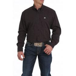 Cinch Men's Black Purple Geo Dot Print Button Western Shirt