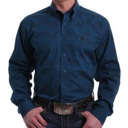 Cinch Men's Navy Black Paisley Button Western Shirt