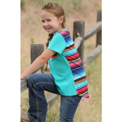 Cruel Girl Turquoise Serape T Shirt