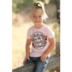 Cruel Girl Todder Pink As Wild As The Western Wind T Shirt
