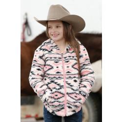 Cruel Girl's Pink Navy Fleece Hoodie
