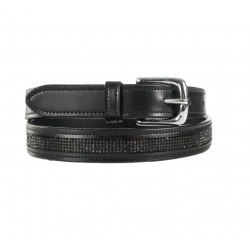 Horze Women's Crescendo Narrow Crystal Black English Belt