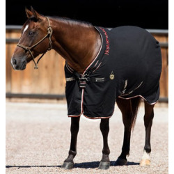 Horseware Ireland Rambo Helix Cotton Sheet Black Tan Orange