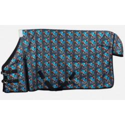Bree Pony Rain Sheet Blue Print