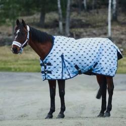 Hoze Pony Winter Rain Blanket Light Blue Crowns