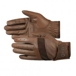 Horze Ladies Leather Mesh Black Or Brown Gloves