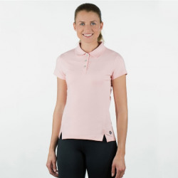 Horze Ladies Erin Cotton Polo Pink Shirt