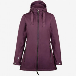 Horze Ladies Freya Long Softshell Jacket Purple