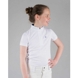 Horze Kids UV Polo Shirt White