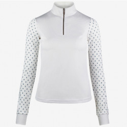 Horze Paige Ladies Long Sleeve Show Shirt White