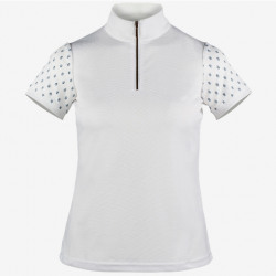 Horze Paige Ladies Short Sleeve Show Shirt White