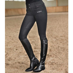B Vertigo Tiffany Women's Silicone Full Seat Breeches Black